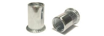 Nýtovací matice hliníková rýhovaná se zapuštěnou hlavou Nr.104